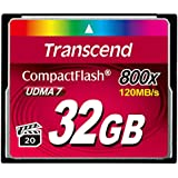 Transcend 32 GB 800X Compact Flash Card, TS32GCF800