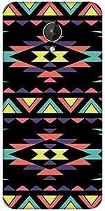 Snoogg Aztec Dark Digital Designer Protective Back Case Cover For Micromax Canvas Spark Q380