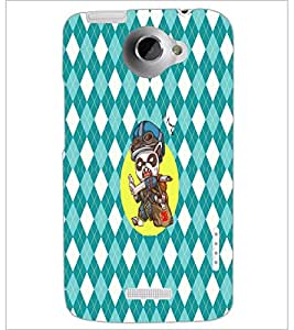 PrintDhaba Cartoon D-3609 Back Case Cover for HTC ONE X (Multi-Coloured)