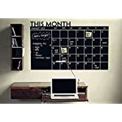 Chalkboard Calendar With Memo Wall Decal Removable Waterproof Vinyl Wall Sticker Wall Art Fashion Sticker
