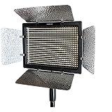 Yongnuo YN-600 Videolicht Videoleuchte Kameralicht Flächenleuchte mit 600 LEDs 4680 Lux (zwischen 3200K-5500K verstellbar) + Netzteil +Akkus +Ladegerät