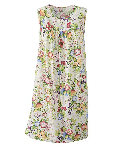 National Print Sundress, Floral Fruit, 2X - Misses, Womens