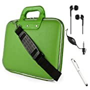 Fashion Leather Hard Shell Cube Bag For Amazon Kindle Fire HD HDX 8.9 inch Tablet + HD Noise Cancelling Earphones + Stylus Pen