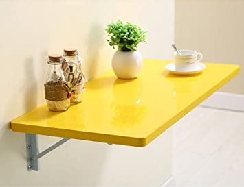 ZCJB Mesa plegable de pared Inicio Mesa Simple De Pared Mesa Plegable Mesa De Comedor Mesa De Pared Mesa De Pared Colgante Mesa De Pared ( Color : Amarillo , Tamaño : 120*50cm )
