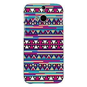 Jugaaduu Aztec Girly Tribal Back Cover Case For HTC One M8