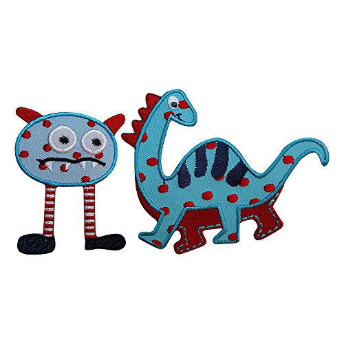 blauer dino 10 x 8 cm monster gestreift 5 mal 7cm. Black Bedroom Furniture Sets. Home Design Ideas