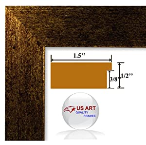 USART 12x36 Brushed Copper Brass finish Picture Poster frame 1.5 inch Wide MDF