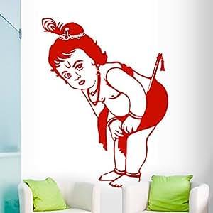 DeStudio Krishna Flip Chalkboard Wall Decal, Size MEDIUM & Color : RED