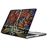 iCasso New Art Fashion Image Series Ultra Slim Light Weight Rubberized Hard Case Glossy Clear Crystal Snap-On Hard Cover Case for MacBook Pro 15 inch Retina (Model: A1398) - Paris of My Dream