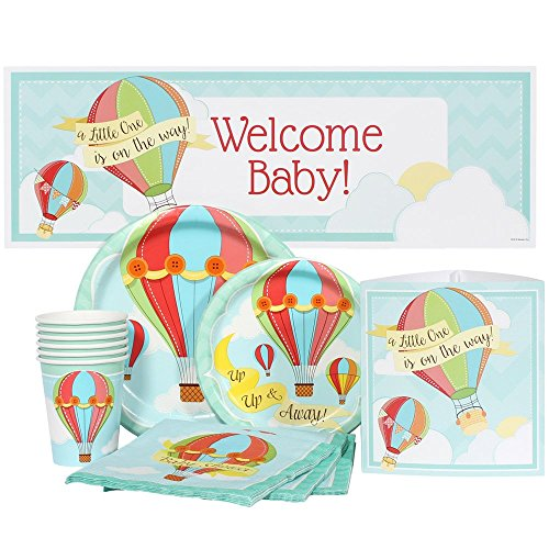Hot Air Balloon Baby Shower Package for 16 (Hot Air Balloon Paper Plates compare prices)