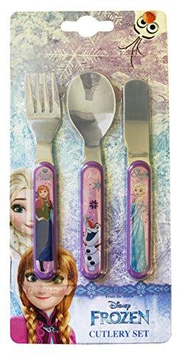 Disney Frozen-Set di posate in metallo, multicolore, 3 pezzi