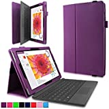 Surface 3 Case - Infiland Premium PU Leather Folio Stand Case Cover For Microsoft Surface 3 10.8-Inch Windows 8.1 Tablet Only (Not Fit Microsoft Surface Pro 3 12-Inch), Purple