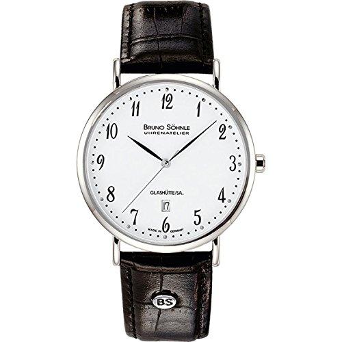 Bruno Söhnle Women's Quartz Watch with Silver Analogue Quartz Leather 17-13085-Nabucco 921