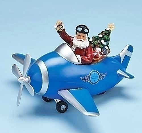 Aviator Santa - Animated & Musical Decoration Christmas Decorations