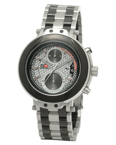 DFactory Men's DFU011CNC Black Label Silver Dial Bracelet Chronograph Watch