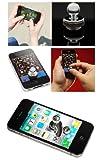 iphone4S i9100のG14 I9220携帯電話のジョイスティックジョイスティック全金属 puondkit (シルバー)