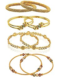 YouBella Designer Gold Plated Jewellery Bangles For Women And Girls - Combo Of 4