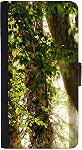 Snoogg Abstract Leaves In Tree Designer Protective Phone Flip Back Case Cover For Xiaomi Redmi Note 3