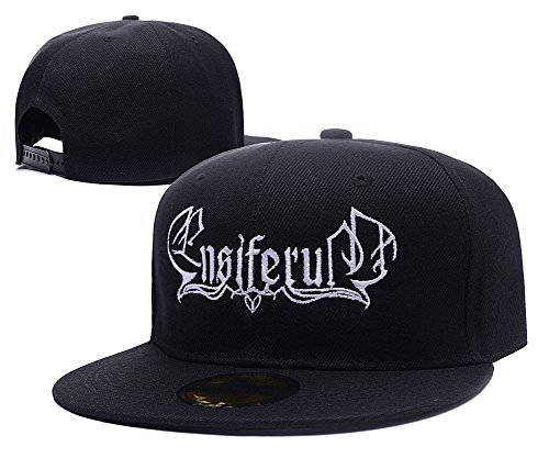 ZZZB Ensiferum Band Logo Adjustable Snapback Embroidery Hats Caps (Ensiferum Iron compare prices)