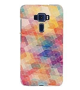 PrintVisa Modern Art Colorful Pattern 3D Hard Polycarbonate Designer Back Case Cover for ASUS ZENFONE 3 Deluxe