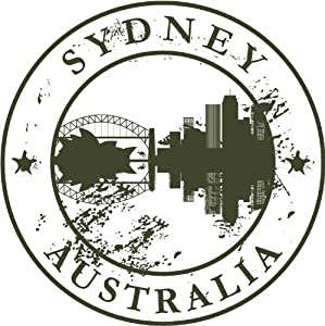 Amazon.com: Sydney Australia Travel Retro Rubber Stamp Car Bumper