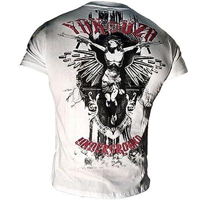 Yakuza Herren T-Shirt Round Neck TSB 617 Yakuza Underground weiss