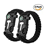 2PCS-PACK-Multifunctional-Paracord-Bracelet-Cos2be-Outdoor-Survival-Kit-Parachute-Cord-Buckle-W-Compass-Flint-Fire-Starter-Whistle-Scraper-for-Hiking-Camping-Emergency