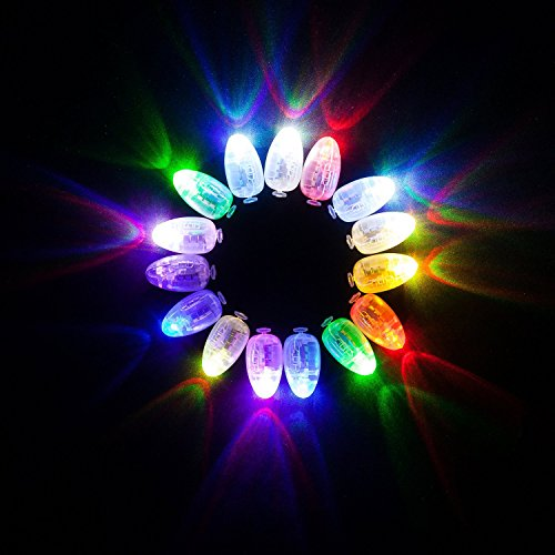 VIVOSKY 100pcs/lot 100 X Multi-Colored Led Flash Ball Lamp Balloon Light for Paper Lantern Balloon Light Party Wedding Decoration