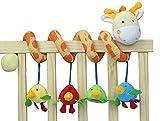 AQURE Giraffe Baby Crib Activity Spiral Stroller Toy