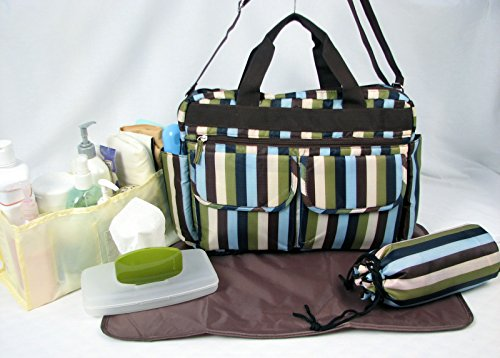 SOHO Stripe 6 in 1 Deluxe Diaper Bag *Limited time offer* - 1