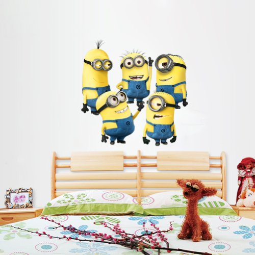 Wootop-Cute And Lovely 3D Despicable Me Yellow Beans Diy Vinyl Wall Decal Sticker 3D/Despicableme