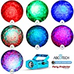 Party Projector Stage Light - 7 Color Ocean Wave Strobe Disco Lights with Variable Speeds - Music/Auto Mode - Perfect for Weddings, Karaoke, Bars, Parties, Xmas & DJ - Includes A Remote Controller by Abco Tech