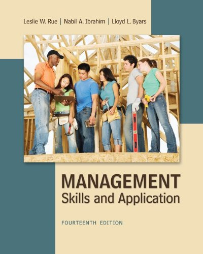 Management skills and applications 14th edition solutions