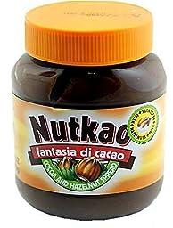 NUTKAO Chocolate Hazelnut Spread Product of Italy 13 Oz Jar (4 Pack)