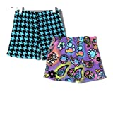 Fancy Girlz Hippy Print-Purple/Hounds Pajama Shorts for Juniors