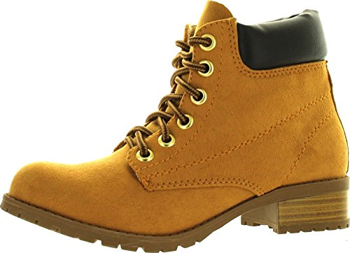 Soda Equity-S Padded Collar Ankle Lace Up Boot,7.5 B(M) US,Blond (Soda Equity Boots compare prices)