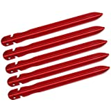 Generic 5pcs V-shape Aluminium Awning Tent Pegs Grounding Stakes Camping Outdoor