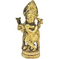 Prisha India Craft ® Diwali Gift Best Quality Handmade Brass Statue Of Shri Krishna , Statue Of God For Temple...