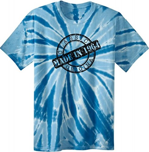 Made 1964 Birthday Gift Classic Distressed Tie Dye T-Shirt Xl Royal
