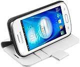 Coque pour Samsung Galaxy Trend Lite, blanc, Trend Lite Bookstyle weiss