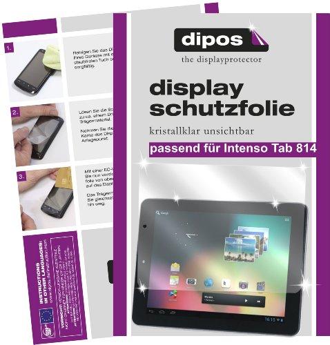 dipos Intenso Tab 814 Schutzfolie (2 Stück) – kristallklare Premium Folie Crystalclear – ideales Zubehör für den Rundumschutz Ihres Tablet PC ergänzend zur Hülle oder Tasche