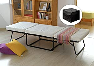 Amazon Com Kings Brand Folding Ottoman Guest Bed Sleeper