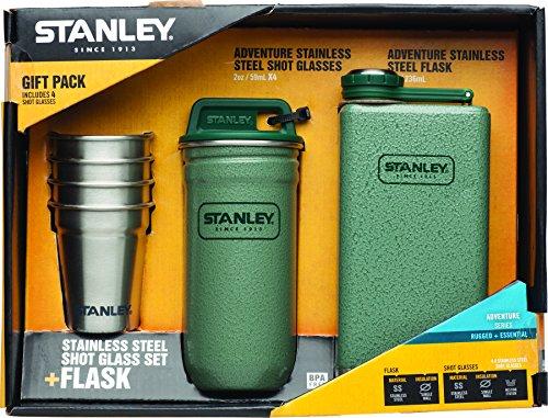 stanley-adventure-stainless-steel-shots-8oz-flask-gift-set-hammertone-green