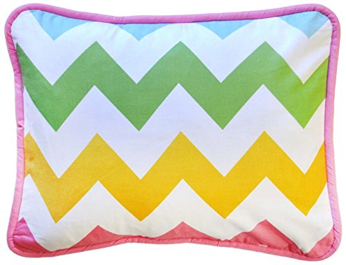 New Arrivals Accent Pillow, Zig Zag in Rainbow