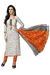 RK Fashion Womens Cotton Un-Stitched Salwar Suit Dupatta Material ( SANDHYA-PAYAL-2003-Grey-Free Size )