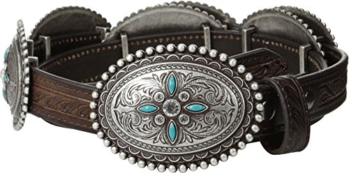 Ariat Women's Oval Concho Belt Brown Large (Concho Belts For Women compare prices)