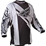 Fly Racing F-16 Youth Boys MX/Off-Road/Dirt Bike Motorcycle Jersey - Black/White / Small