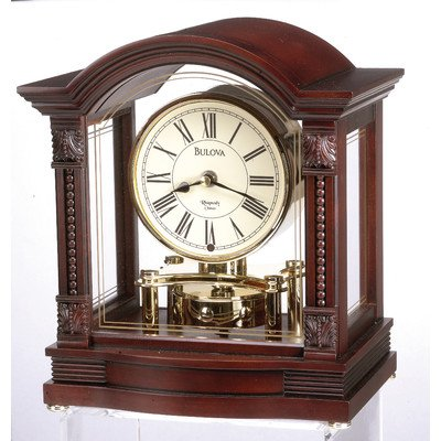 Bulova B1987 Bardwell Clock, Antique Walnut Finish