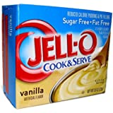 Jell-O Vanilla Pudding Sugar Free Cook & Serve (4 Pack)