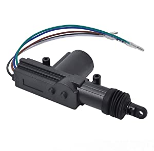 CARVIYA 2 Pack Universal Car Auto Heavy Duty Power Door Lock Actuator Motor Professional 5 Wires DC 12V Auto Central Locking System Motor